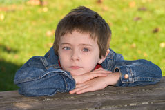 Young boy close-up Stock Photo