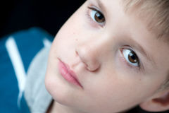 Young Boy Close-Up portrait Stock Image