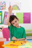 A young boy comes to the response Stock Photos