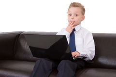 Young  boy confused Royalty Free Stock Images