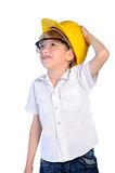 Young boy constructor concept Stock Photo