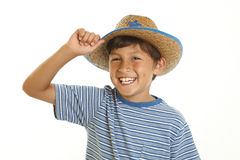 Young Boy in Cowboy Hat Royalty Free Stock Photo