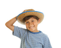 Young Boy in Cowboy Hat Stock Images