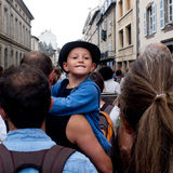 Young boy in the crowd. Stock Images