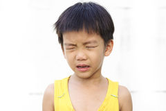 Young boy cry and tear Stock Photo