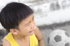 Young boy cry and tear Stock Photos
