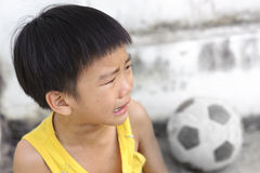 Young boy cry and tear Stock Photography