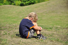 Young boy crying Stock Image