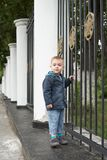 Young boy. Cute blond royalty free stock photography