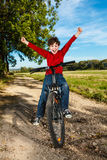 Young boy cycling Royalty Free Stock Images