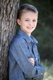 Young Boy in Denim Stock Photo