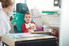 Young boy in a dental surgery Stock Photo