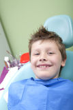 Young boy at the dentist Stock Images