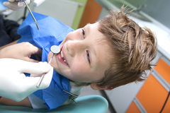 Young boy at the dentist Royalty Free Stock Image
