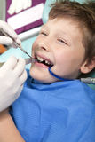 Young boy at the dentist Royalty Free Stock Photos