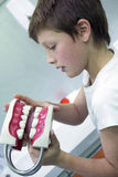 Young boy at the dentist Royalty Free Stock Photo