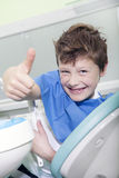 Young boy at the dentist Stock Image