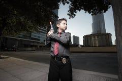 Young boy detective Stock Photos