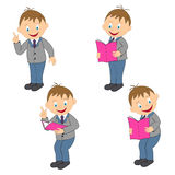 Young boy in different positions Stock Images