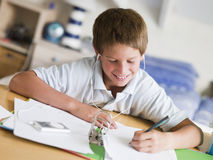 Young Boy Doing His Homework Royalty Free Stock Photo