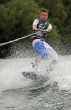 Young boy doing wakeboarding / surfing Stock Image