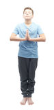 Young boy doing yoga Royalty Free Stock Photo