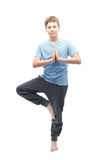 Young boy doing yoga Royalty Free Stock Photography