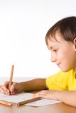 Young Boy Draws Royalty Free Stock Photography