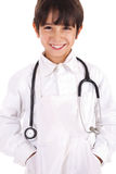 Young boy dressed as doctor stock photography