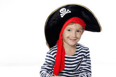 Young boy dressed as pirate Stock Photos