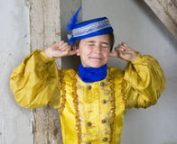 Young boy dressed as a prince Royalty Free Stock Images