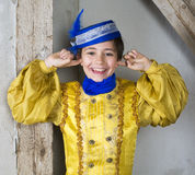 Young boy dressed as a prince Royalty Free Stock Photos