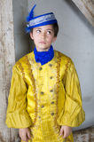 Young boy dressed as a prince Stock Photos