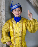 Young boy dressed as a prince Stock Photo
