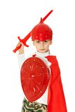 Young Boy Dressed Like a knight Royalty Free Stock Photography