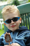 Young boy eating ice-cream Royalty Free Stock Photo