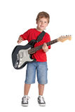 Young boy with electric guitar Royalty Free Stock Photos