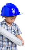 Young boy engineer Stock Images