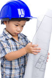 Young boy engineer Royalty Free Stock Image