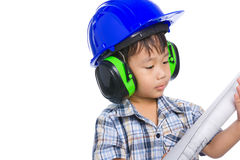 Young boy engineer Royalty Free Stock Photos