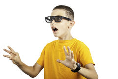 Young boy expression stock images
