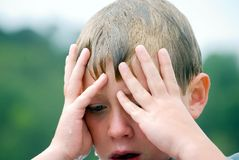 Young Boy/ Expression royalty free stock photos