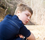 Young Boy/Expression Stock Photography