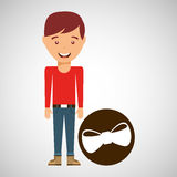 Young boy fathers day celebration bow tie. Vector illustration eps 10 Royalty Free Stock Photography