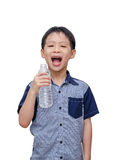 Young boy feel fresh after drinking water Stock Photos