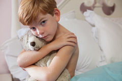 Young boy feeling sad. Stock Images