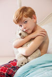 Young boy feeling sad. Royalty Free Stock Photography
