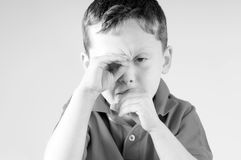 Young boy feeling sick Royalty Free Stock Photos