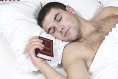 A young boy fell asleep Stock Images