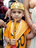 A Young boy in Festival of Cows( Gaijatra) Stock Photo